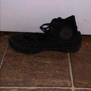 Converse Shoes - High-top all black Converse